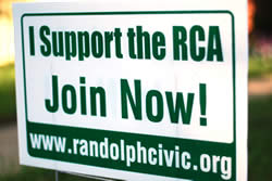 Randolph Civic Association sign